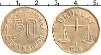 Изображение Монеты Уругвай 50 сентесим 1976 Латунь UNC-