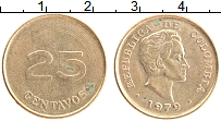Изображение Монеты Колумбия 25 сентаво 1979 Латунь XF