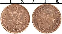 Изображение Монеты Фолклендские острова 2 пенса 2004 Бронза UNC- Елизавета II.