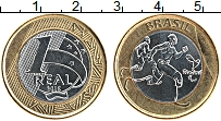 Изображение Монеты Бразилия 1 реал 2015 Биметалл UNC-