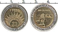 Продать Монеты Аргентина 1 песо 2010 Биметалл