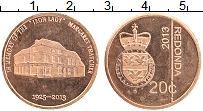 Изображение Монеты Редонда 20 центов 2013 Бронза UNC-