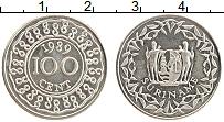 Изображение Монеты Суринам 100 центов 1989 Медно-никель UNC-