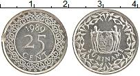 Изображение Монеты Суринам 25 центов 1989 Медно-никель UNC-