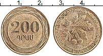 Изображение Монеты Армения 200 драм 2014 Латунь XF