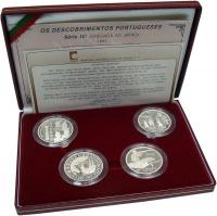 Изображение Подарочные монеты Португалия Открытия 1993 Серебро Proof