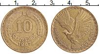 Изображение Монеты Чили 10 сентесим 1967 Латунь XF