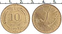 Изображение Монеты Чили 10 сентесим 1963 Латунь XF