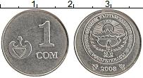 Изображение Монеты Киргизия 1 сом 2008 Медно-никель UNC-