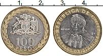 Изображение Монеты Чили 100 песо 2006 Биметалл XF