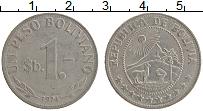 Изображение Монеты Боливия 1 песо 1974 Медно-никель XF