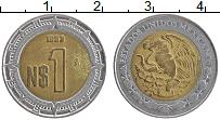 Изображение Монеты Мексика 1 песо 1993 Биметалл XF