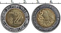Изображение Монеты Мексика 2 песо 2012 Биметалл XF