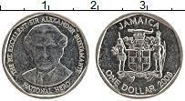 Изображение Монеты Ямайка 1 доллар 2008 Медно-никель XF Сэр Александр Бустам