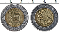 Изображение Монеты Мексика 5 песо 2011 Биметалл XF