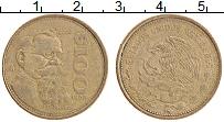 Изображение Монеты Мексика 100 песо 1988 Латунь XF Венустиано Карранса