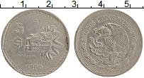 Изображение Монеты Мексика 5 песо 1980 Медно-никель XF