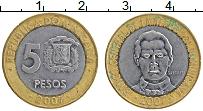 Изображение Монеты Доминиканская республика 5 песо 2007 Биметалл XF Санчез
