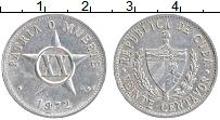 Изображение Монеты Куба 20 сентаво 1972 Алюминий XF