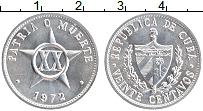 Изображение Монеты Куба 20 сентаво 1972 Алюминий UNC-
