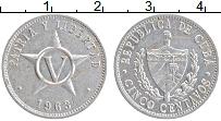 Изображение Монеты Куба 5 сентаво 1963 Алюминий XF