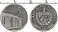 Изображение Монеты Куба 5 сентаво 1998 Медно-никель UNC-