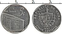 Изображение Монеты Куба 5 сентаво 1994 Медно-никель UNC-