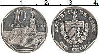 Изображение Монеты Куба 10 сентаво 2000 Медно-никель XF