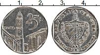 Изображение Монеты Куба 25 сентаво 1995 Медно-никель XF