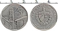 Изображение Монеты Куба 25 сентаво 1994 Медно-никель XF