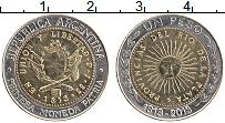 Продать Монеты Аргентина 1 песо 2013 Биметалл