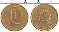 Изображение Монеты Аргентина 10 сентаво 1987 Латунь XF
