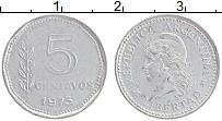 Изображение Монеты Аргентина 5 сентаво 1973 Алюминий XF