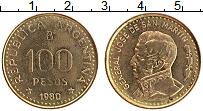 Изображение Монеты Аргентина 100 песо 1980 Латунь UNC- Хосе де Сан-Мартин