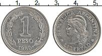 Изображение Монеты Аргентина 1 песо 1960 Медно-никель XF