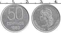 Изображение Монеты Аргентина 50 сентаво 1983 Алюминий UNC-