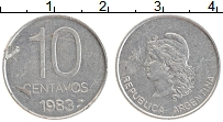 Изображение Монеты Аргентина 10 сентаво 1983 Алюминий XF