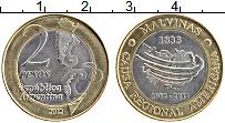 Изображение Монеты Аргентина 2 песо 2012 Биметалл UNC- 30 лет войны за Маль