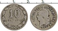 Изображение Монеты Аргентина 10 сентаво 1921 Медно-никель VF