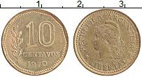 Изображение Монеты Аргентина 10 сентаво 1970 Латунь XF