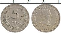 Изображение Монеты Уругвай 5 сентесим 1953 Медно-никель XF