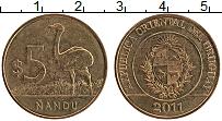 Изображение Монеты Уругвай 5 песо 2011 Латунь XF