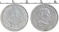 Изображение Монеты Уругвай 20 сентесим 1965 Алюминий XF