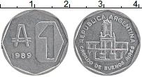 Изображение Монеты Аргентина 1 аустрал 1989 Алюминий XF