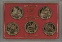 Изображение Подарочные монеты Остров Мэн Парусники 1987 Медно-никель UNC