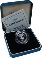 Изображение Подарочные монеты Великобритания 1 фунт 1990 Серебро Proof