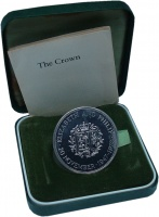 Изображение Подарочные монеты Великобритания 25 пенсов 1972 Серебро Proof 25 лет Свадьбы Улиза