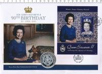 Изображение Подарочные монеты Сент Киттс-Невис Медаль 2016 Медно-никель Proof 90 лет королеве Елиз