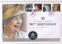 Изображение Подарочные монеты Бавария Медаль 2016 Медно-никель Proof 90 лет королеве Елиз
