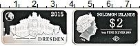 Изображение Монеты Соломоновы острова 2 доллара 2015 Серебро Proof Елизавета II. Дрезде